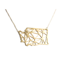 Load image into Gallery viewer, State of Washington Geometric Pendant Necklace