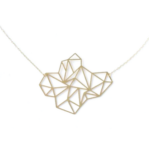 Faceted Geometric Large Shape Necklace
