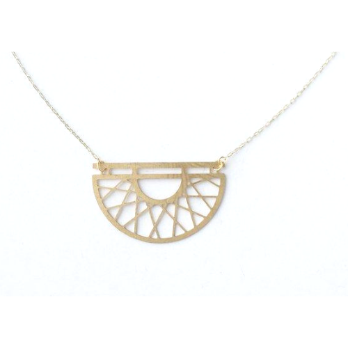 Art Deco Semicircle Necklace