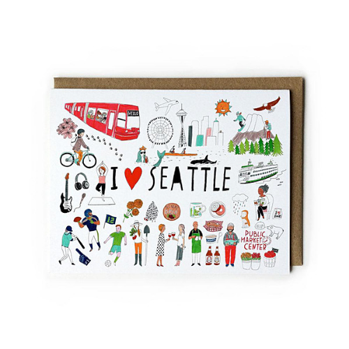 I Love Seattle Card
