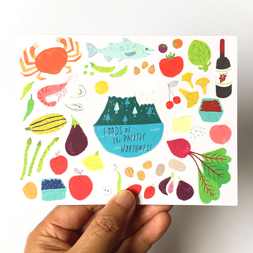 Foods of the PNW Card