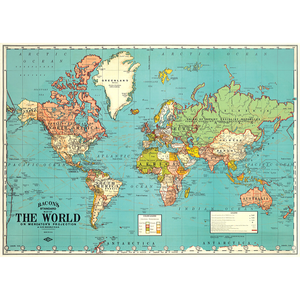 Cavallini & Co. World Map 4 Wrap