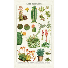 Load image into Gallery viewer, Cavallini & Co. Succulents Tea Towel