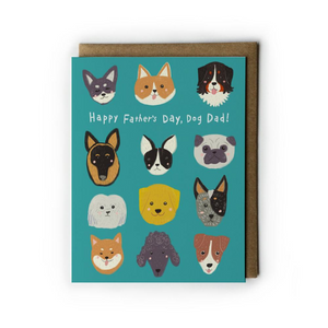 Dog Dad Father's Day Card