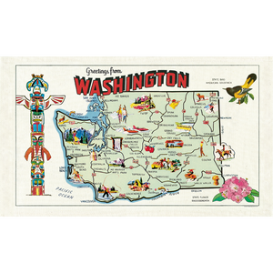 Cavallini & Co. Washington Map Tea Towel