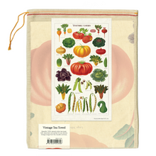 Load image into Gallery viewer, Cavallini & Co. Vegetable Garden Tea Towel