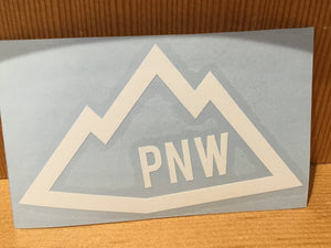 PNW Mountain Diecut Sticker