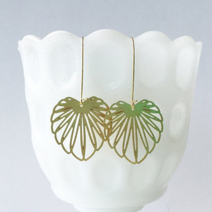 Art Nouveau Leaf Earrings/Style 1