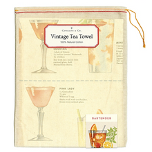 Load image into Gallery viewer, Cavallini & Co. Bartenders Guide Tea Towel