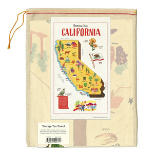 Cavallini & Co. California Map Tea Towel