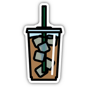 Iced Coffee/ Large Printed Sticker