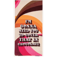 Load image into Gallery viewer, Cover In Chocolate Dish Towel