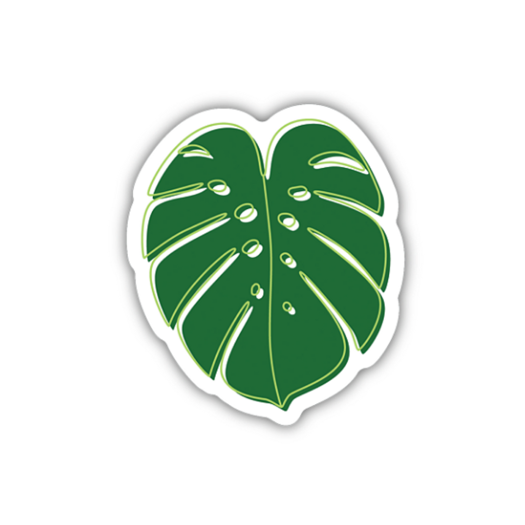 Monstera Deliciosa Leaf/Large Printed Sticker