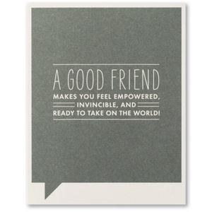 FF Card- A good friend makes you feel (FR)