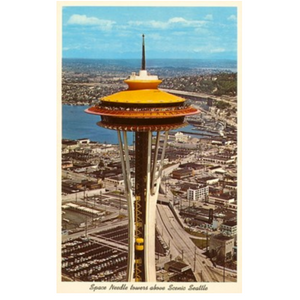 Found Image Postcard Space Needle