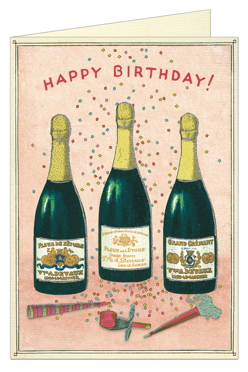 Birthday Champagne Greeting Card