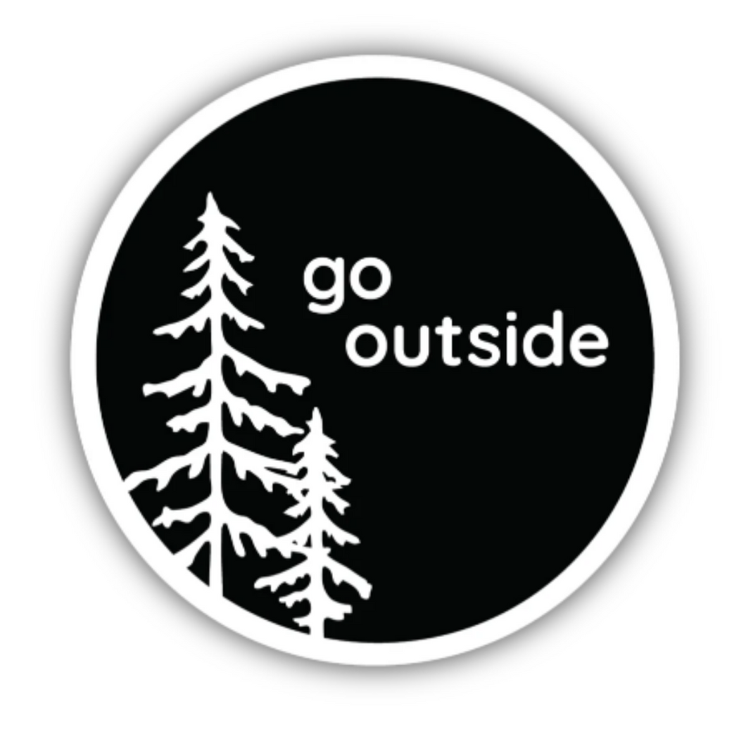 Go Outside Trees/ Large Printed Sticker