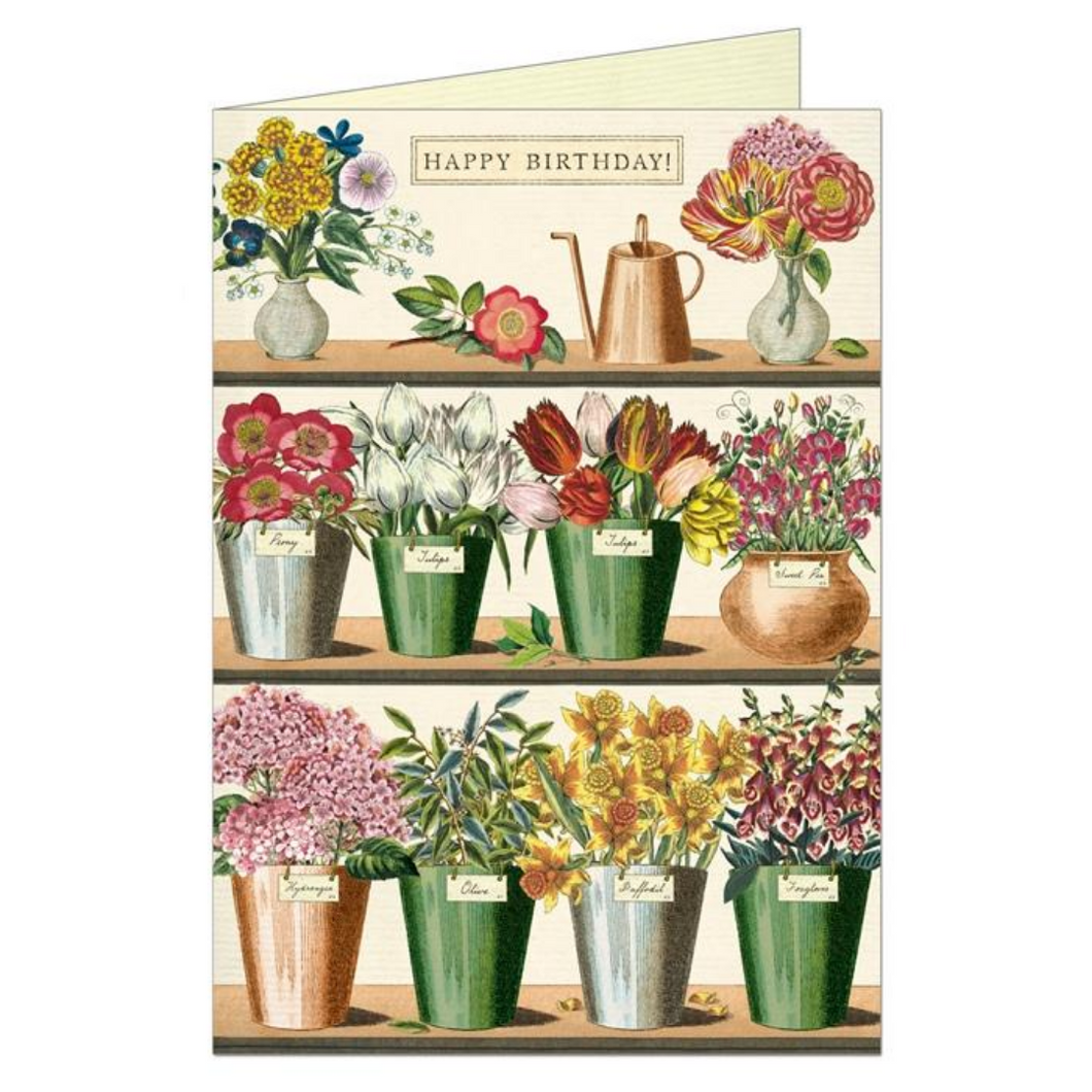 Happy Birthday Flower Market Greeting Card
