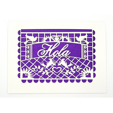 Load image into Gallery viewer, Hola-Papel Picado Card