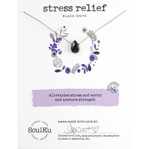 "Soul Full 16-18"" Necklace - Stress Relief/Black Onyx"