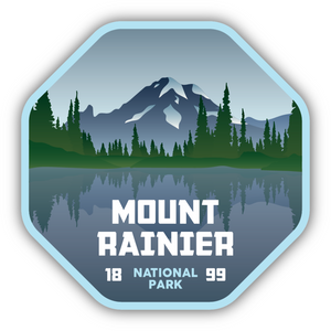 Mt Rainier National Park Sticker