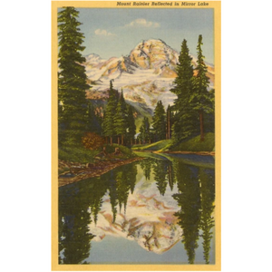 Mt. Rainier from Mirror Lake Postcard