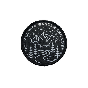 Not All Who Wander Patch Black