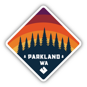 Parkland,WA Diamond Trees Sticker