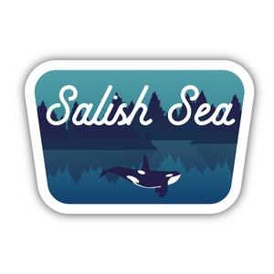 Salish Sea & Underwater Orca Sticker