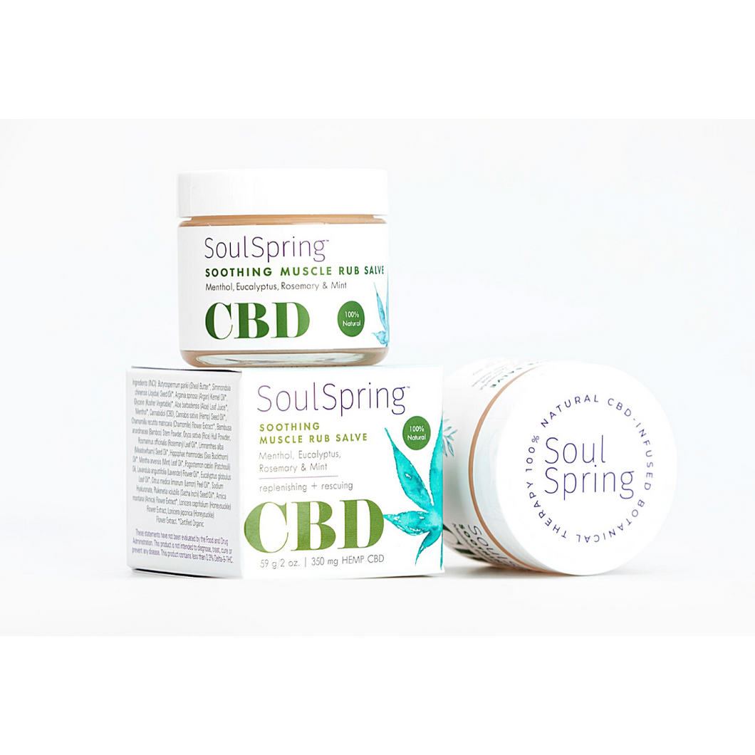 Soul Spring Soothing CBD Muscle Rub Salve