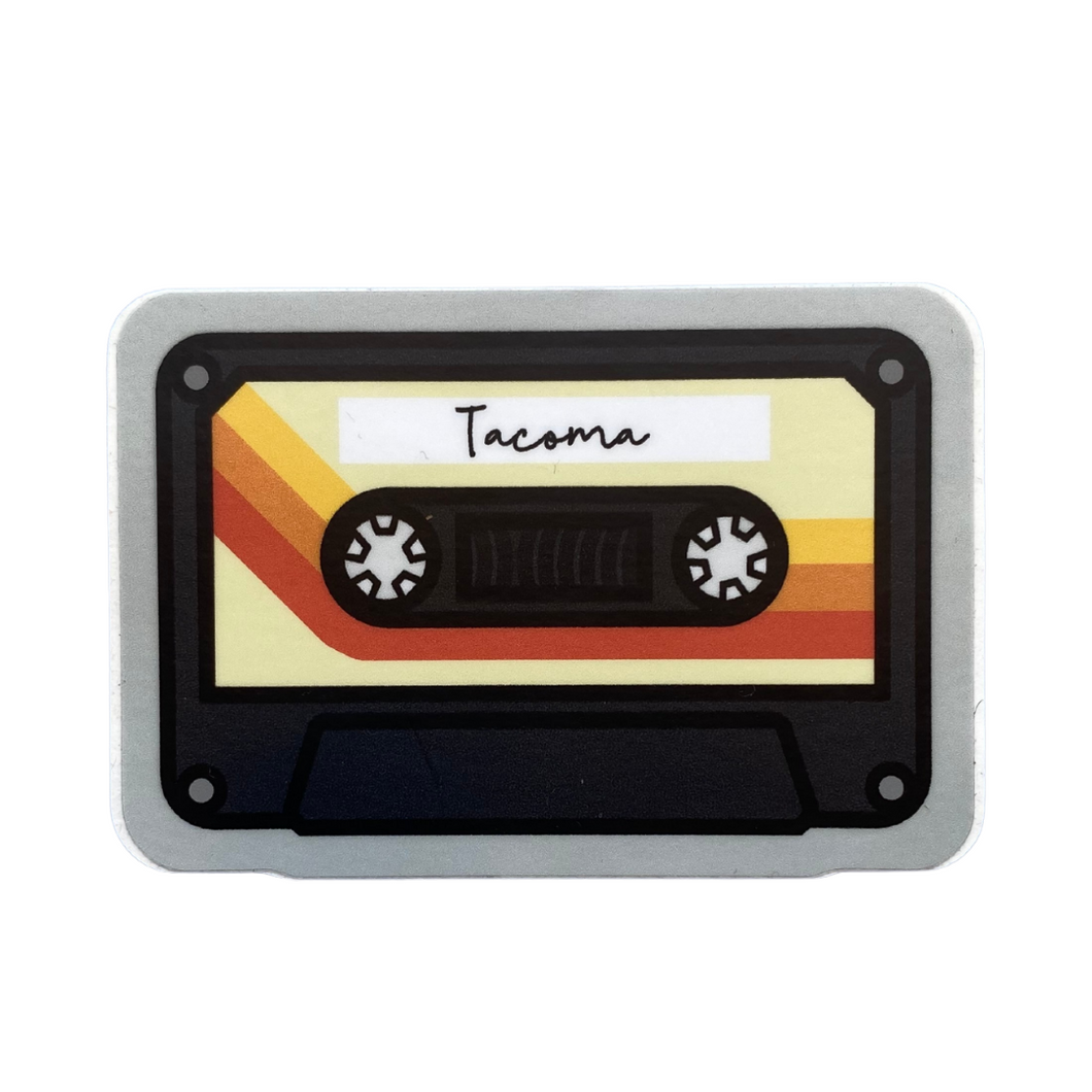 Cassette Tape Tacoma Sticker