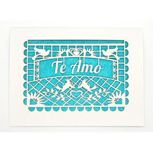 Load image into Gallery viewer, Te Amo-Papel Picado Card