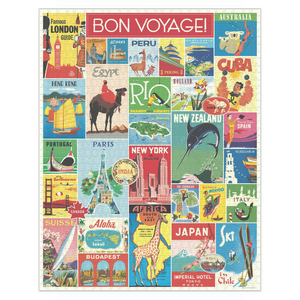 Cavallini & Co Travel 1000 Piece Puzzle