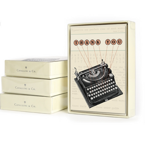 Cavallini & Co. Thank You Typewriter Boxed Note Cards