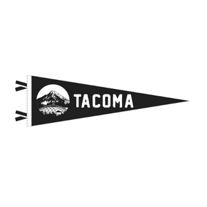Tacoma Dome framed by Mount Rainier Pennant