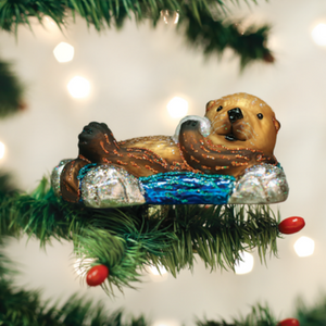 Floating Sea Otter Ornament