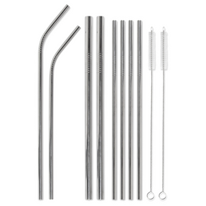 Mint Clink & Drink Stainless Straw Set