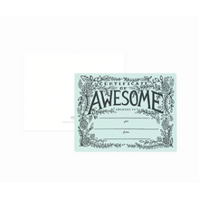 Load image into Gallery viewer, certificate of awesome card