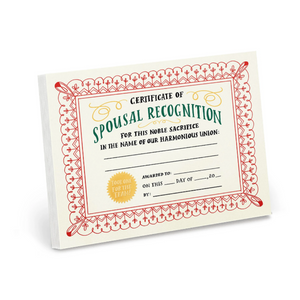 Notepad: Spousal Recognition