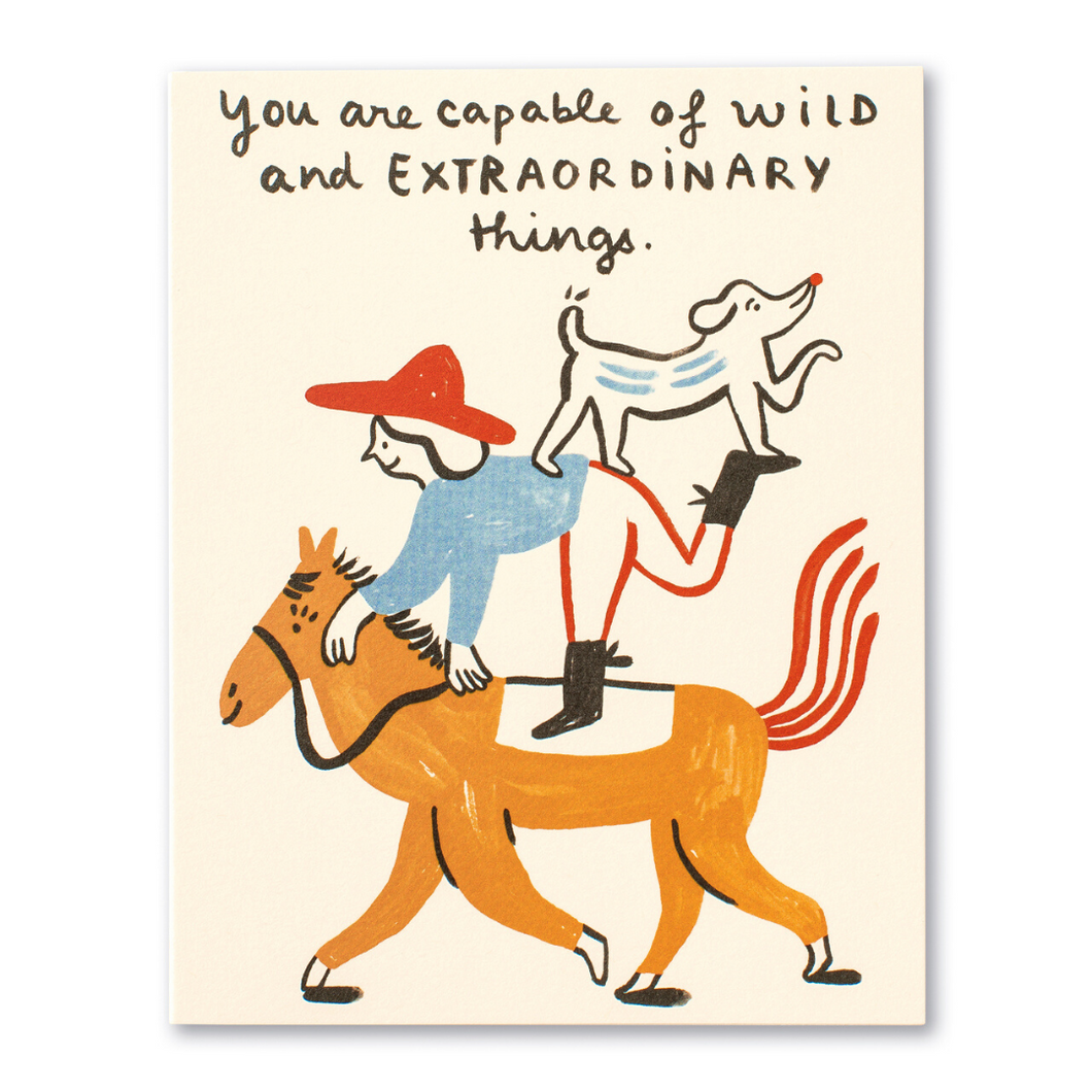 LM Card - You are capable of wild and (HB)