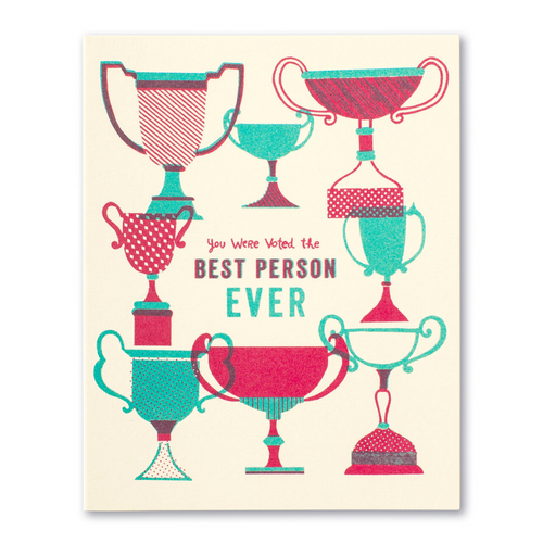 LM Card - You were voted the best person ever (TY)