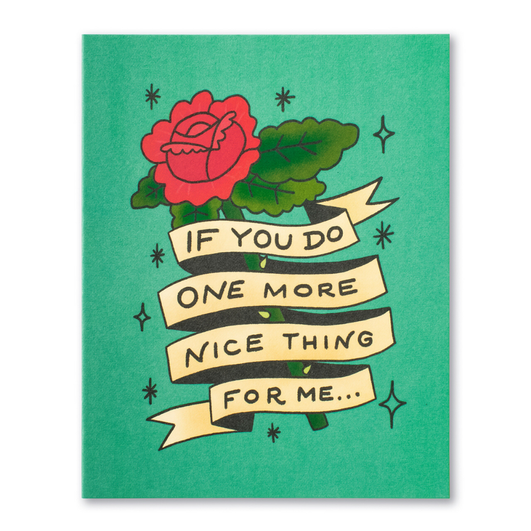LM Card - If you do one more nice thing for me (TY)
