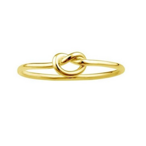 GF Love Knot Ring Gold