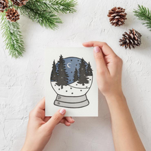 Load image into Gallery viewer, Snow Globe Christmas Notecard