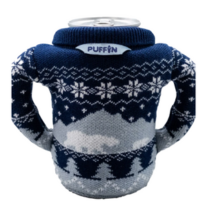 Animal Beverage Sweater-Blue