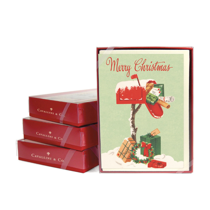 Cavallini & Co. Christmas Mailbox Boxed Note Cards