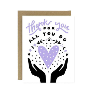 Thank You All You Do Card