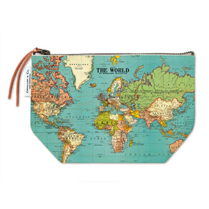 Cavallini & Co. World Map Vintage Pouch