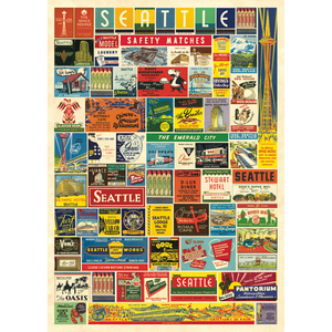 An art print and paper wrap which features various matchbox designs