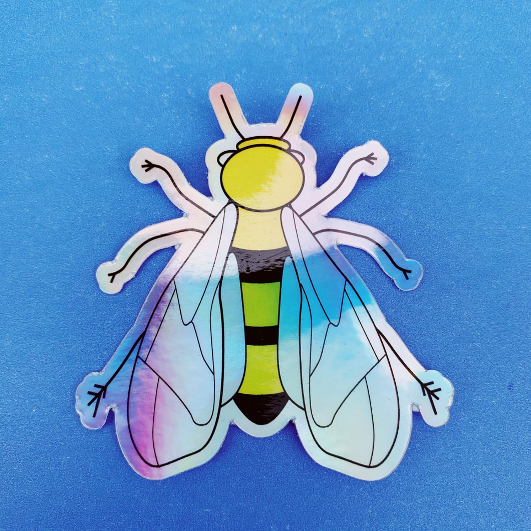 Bee Holographic Sticker